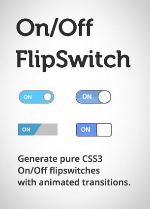 On/Off Flipswitch HTML5/CSS3 Generator - Proto io