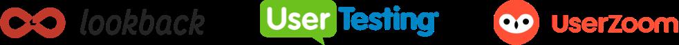 Lookback, User testing, Validately logos